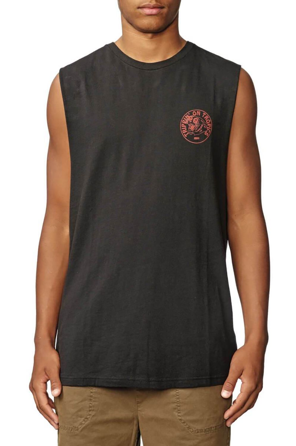Globe T-Shirt Tank Top TRIPPIN' MUSCLE Washed Black