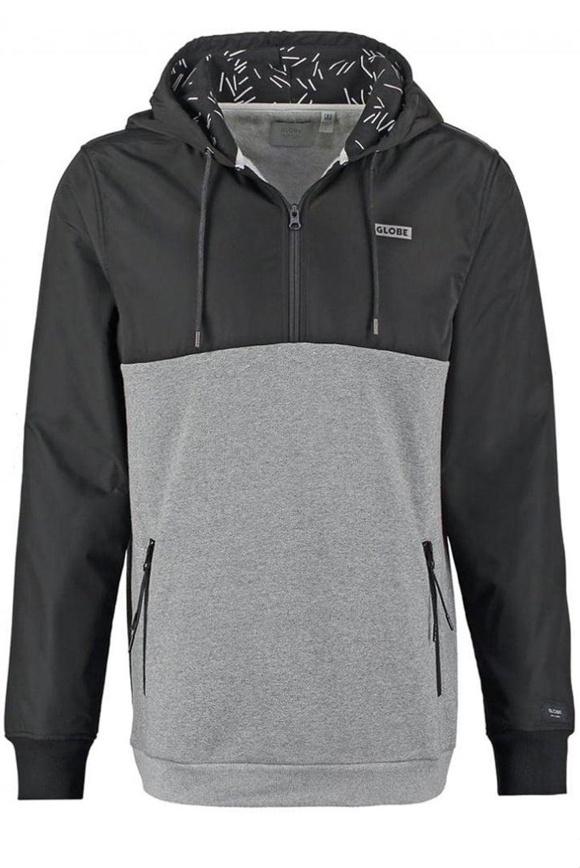 Globe Sweat Zip Hood ALFRED Black