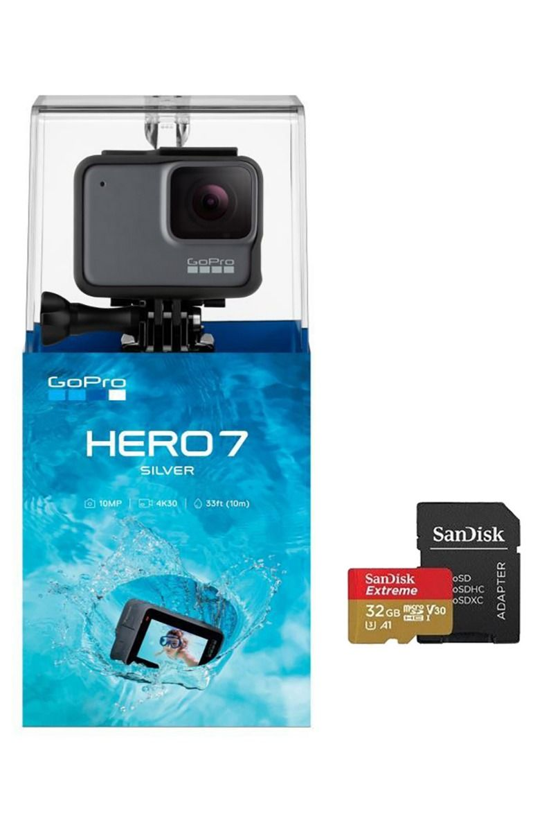 GoPro Camera HERO 7 SILVER + SD Card 32Gb Silver