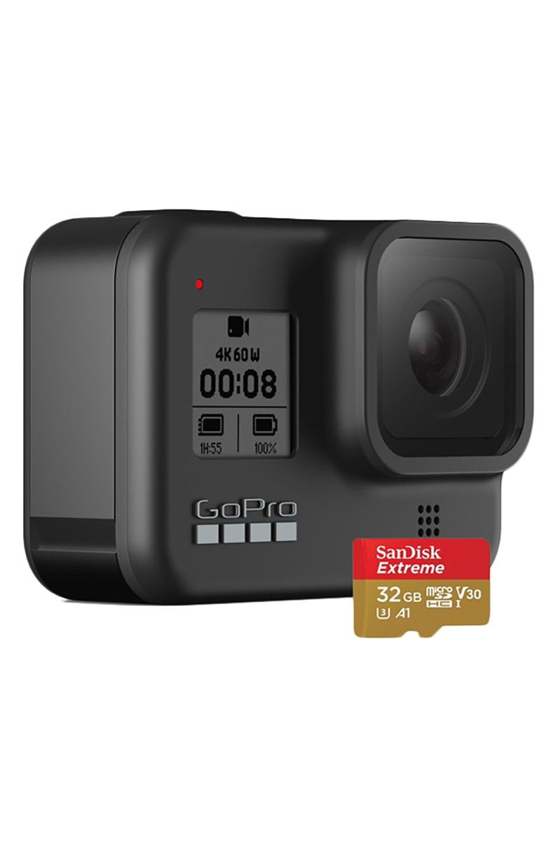 GoPro Camera HERO 8 BLACK + SD CARD 32Gb Assorted
