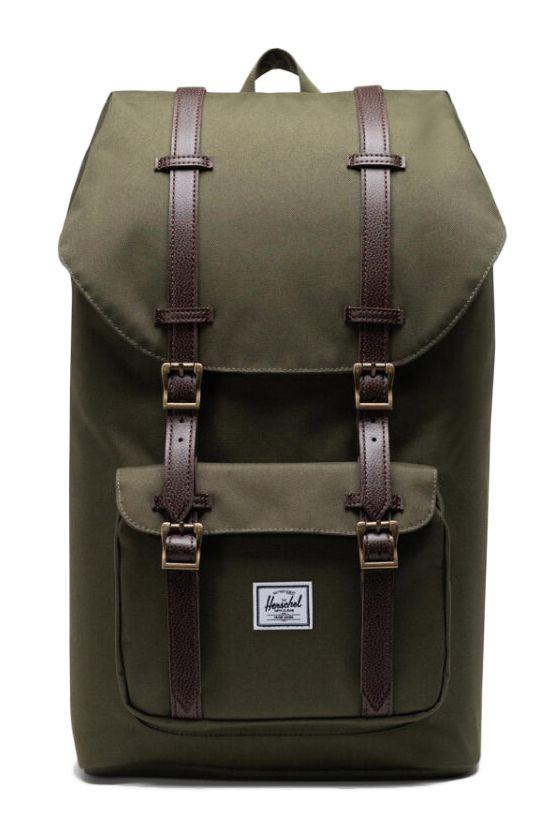 Herschel Backpack HERSCHEL LITTLE AMERICA Ivy Green/Chicory Coffee