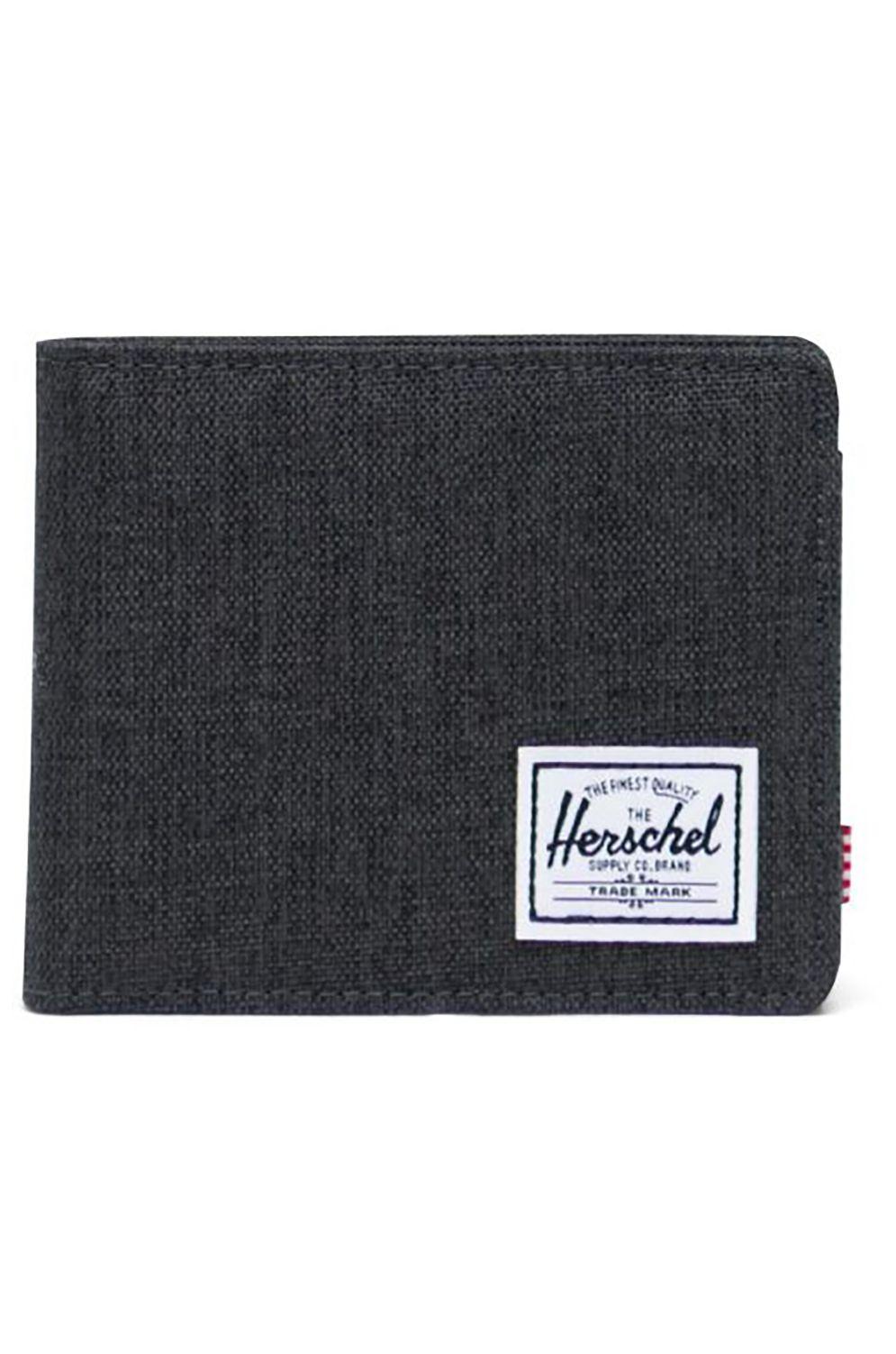 Carteira Herschel ROY COIN RFID Black Crosshatch