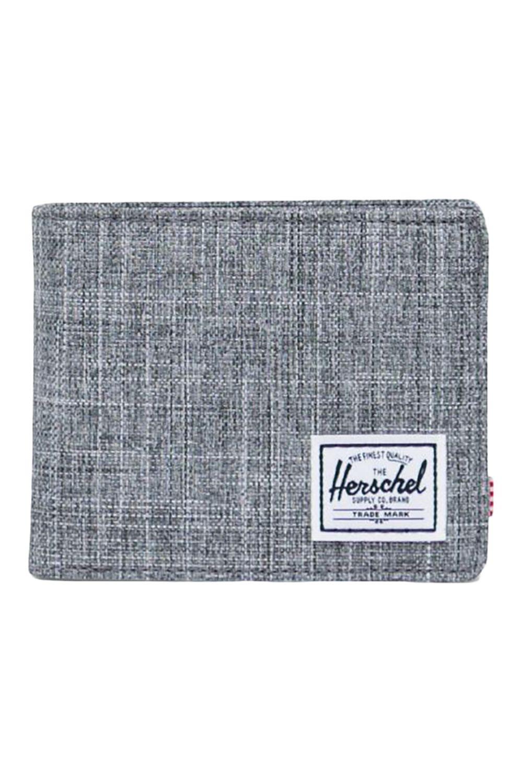 Herschel Wallet ROY COIN RFID Raven Crosshatch
