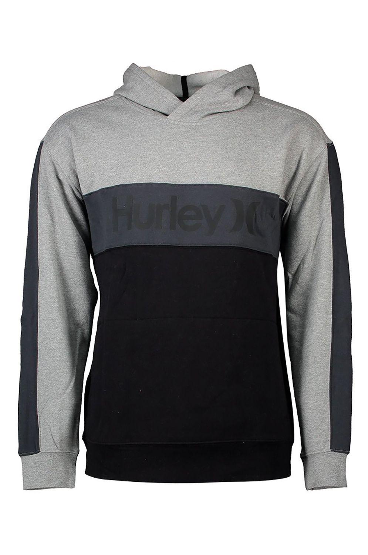Hurley Sweat Hood M BLOCKED PULLOVER FLEECE Dk Smoke Grey