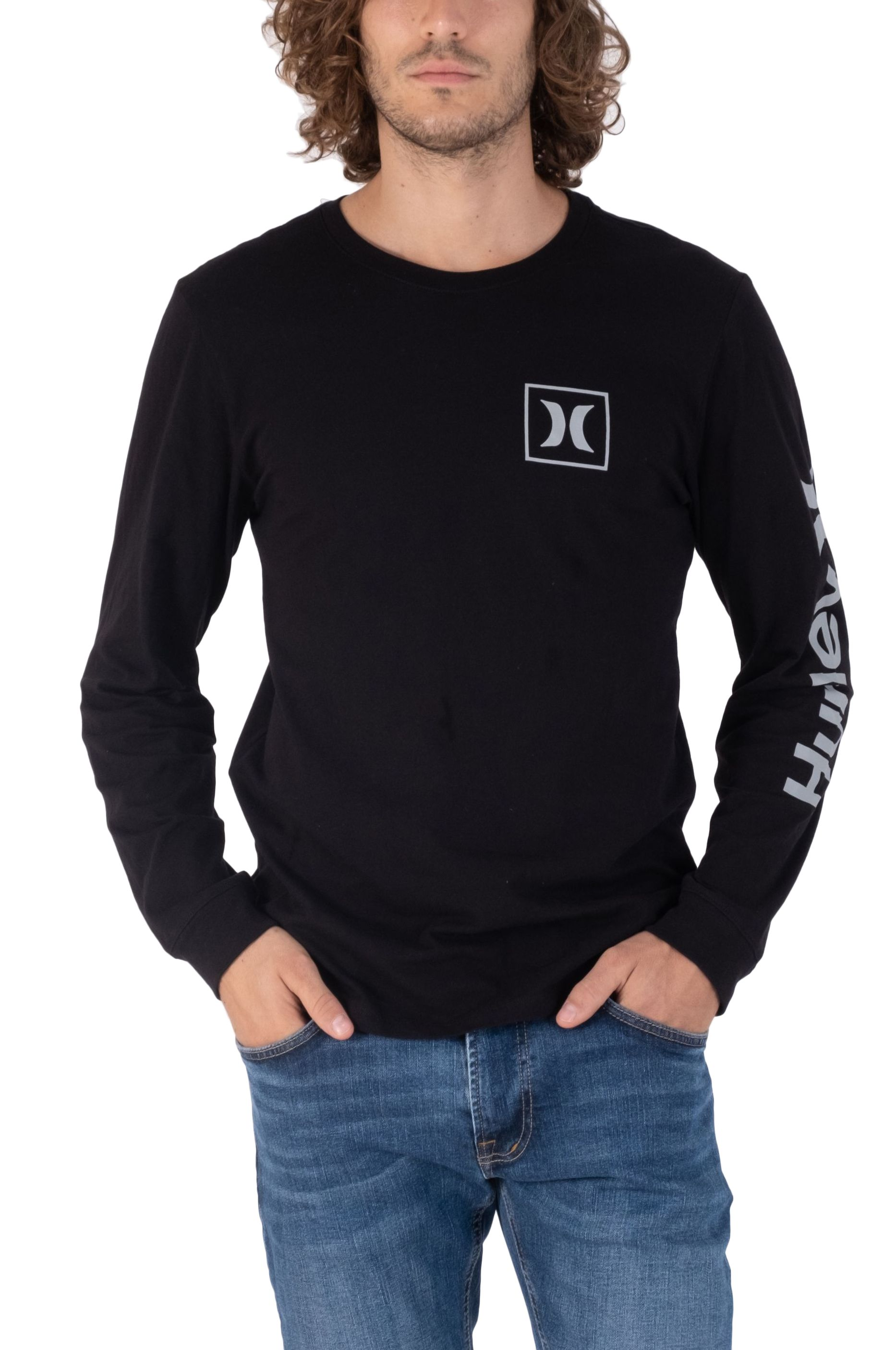 Hurley L-Sleeve M EVD WSH OAO ICON LS Black