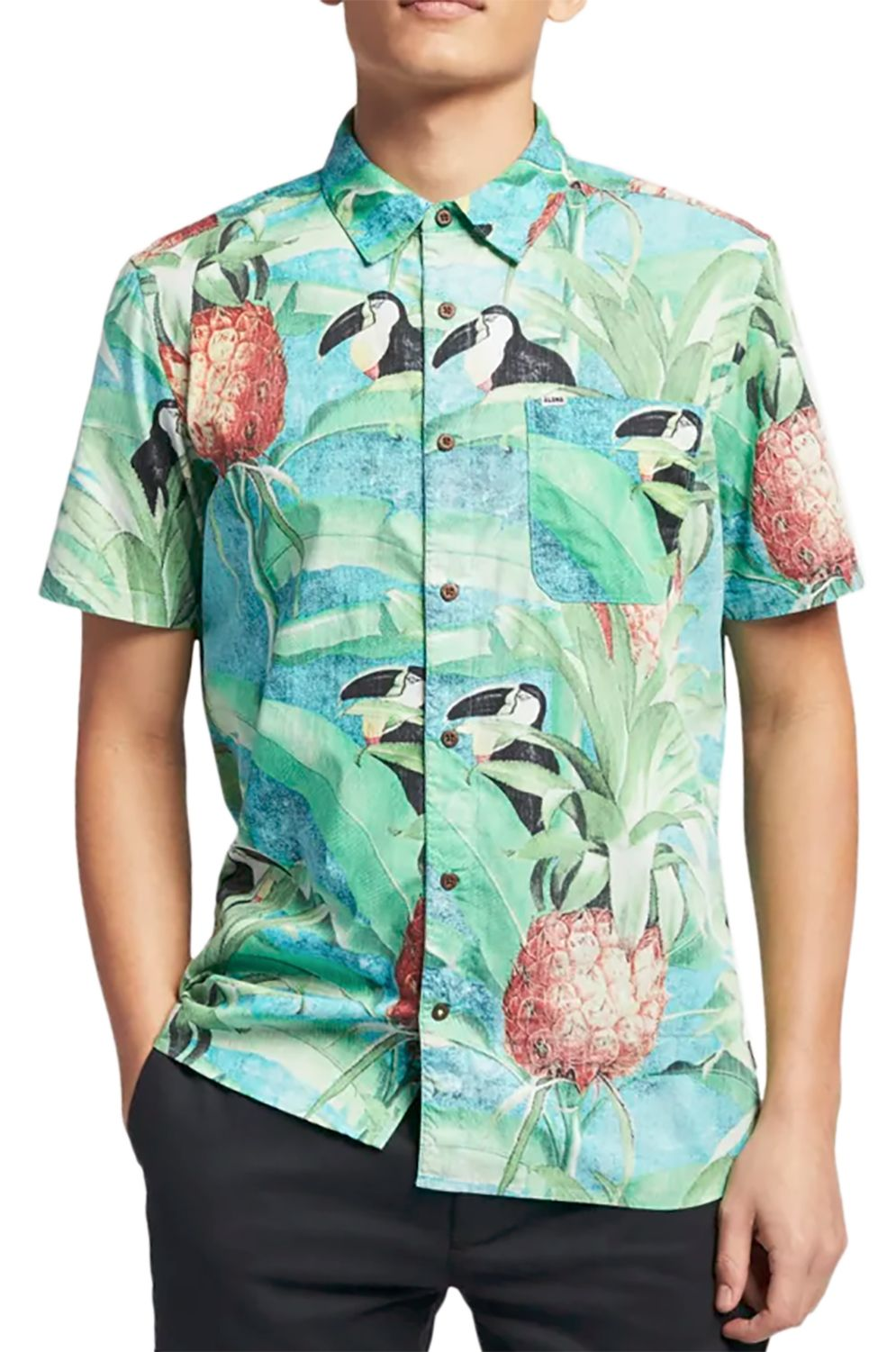 c34220c2ab168 Camisa Hurley COSTA RICA WOVEN S S Tropical Twist