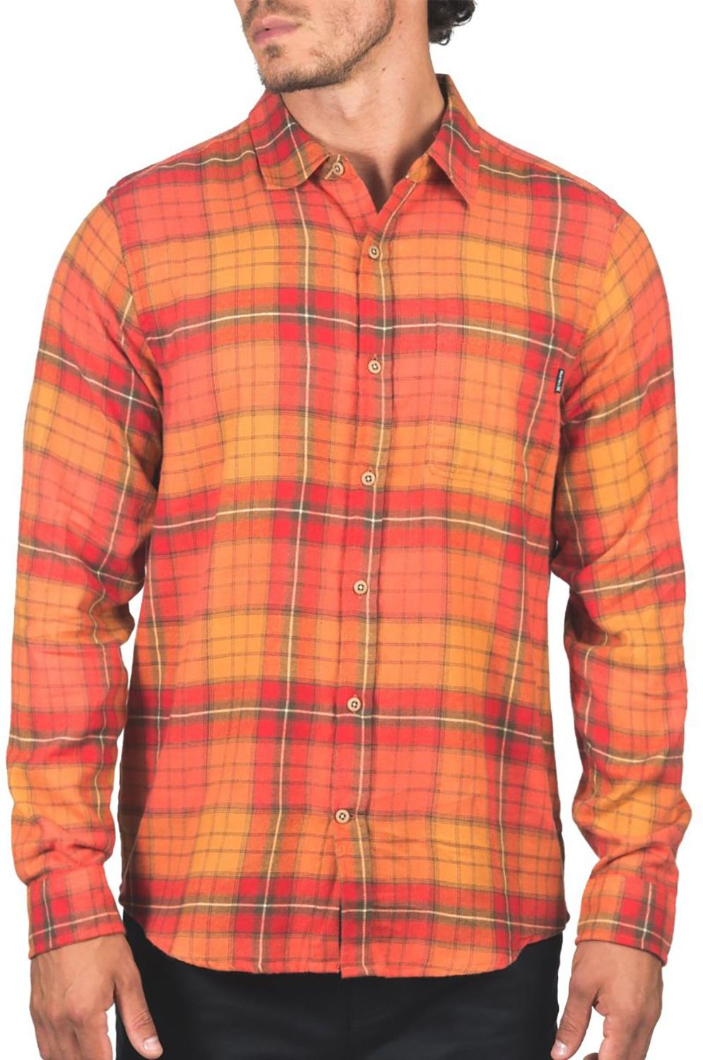 Hurley Shirt M PORTLAND FLANNEL LS Mantra Orange