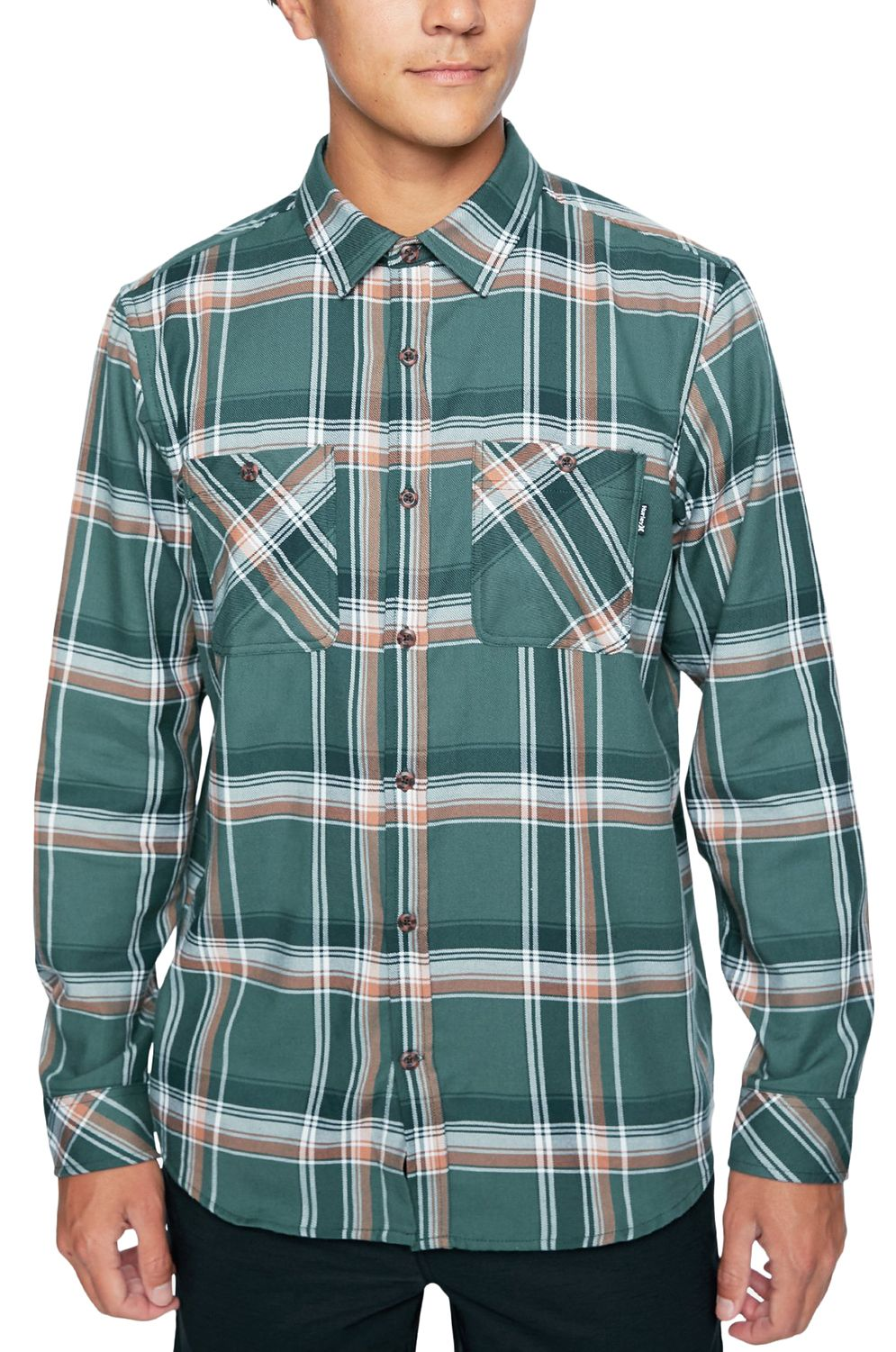Hurley Shirt M DF HUNTER FLANNEL LS Vintage Green