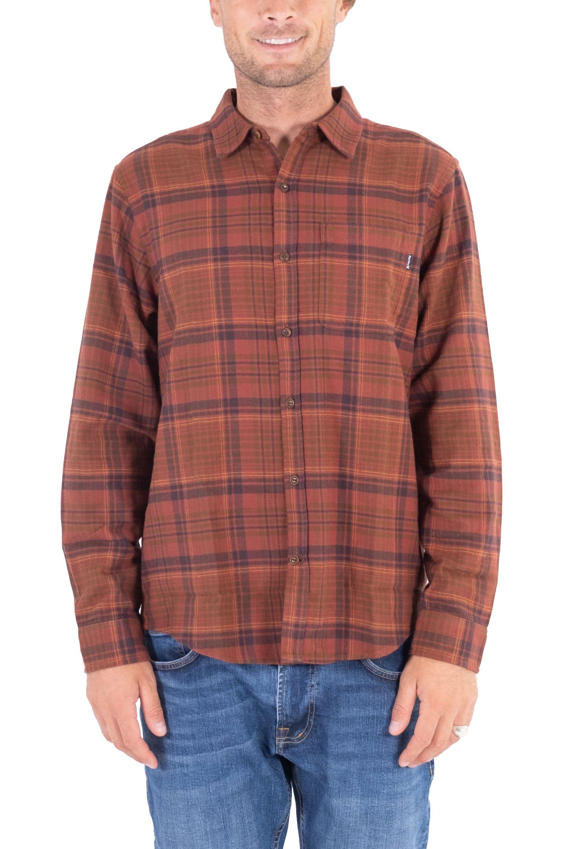 Hurley Shirt M PORTLAND FLANNEL LS Redstone