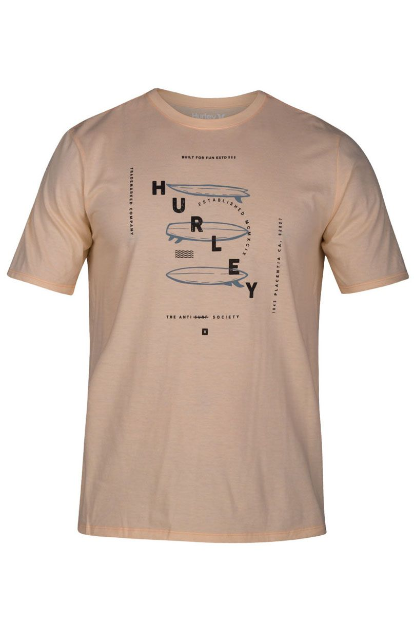 Hurley T-Shirt M BOARDS S/S Crimson Tint Htr