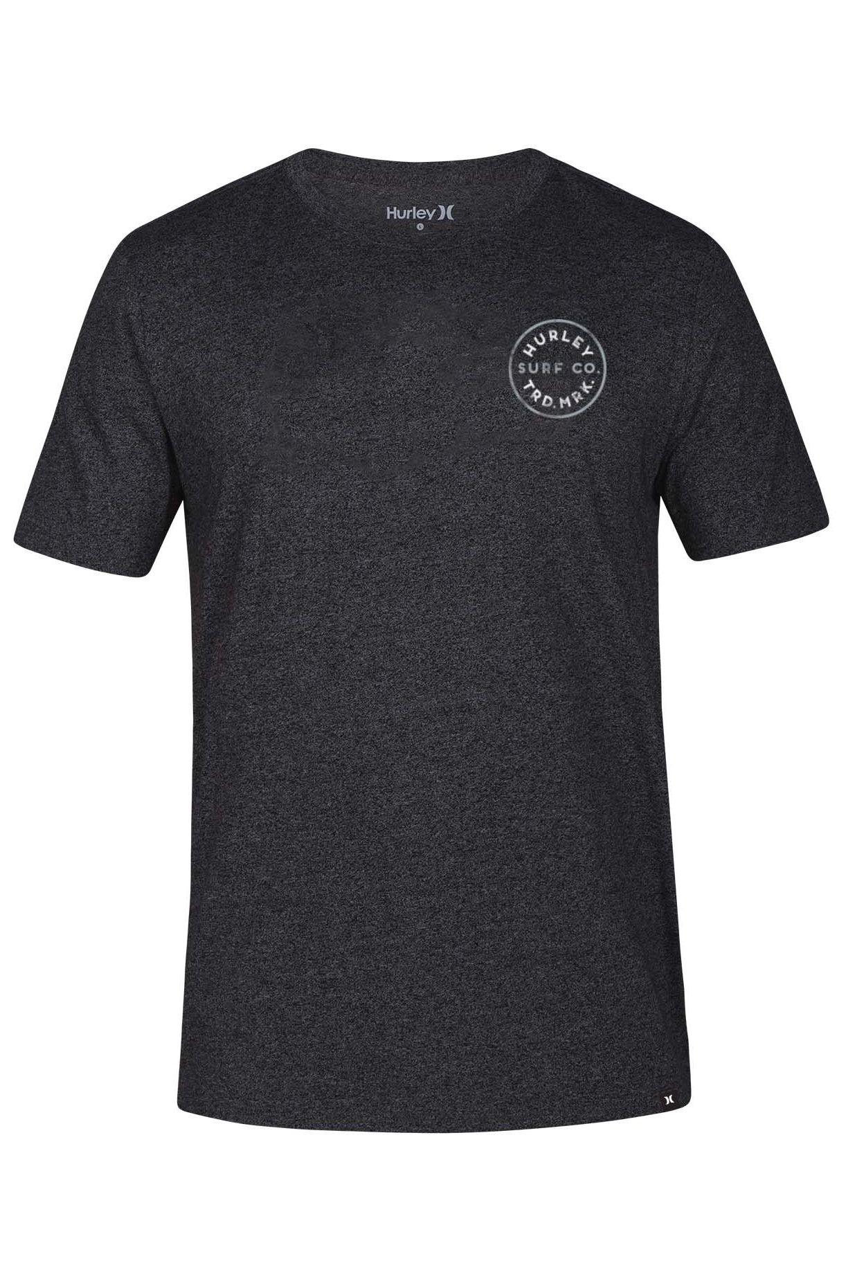 Hurley T-Shirt M HAYDEN TEE Black Htr