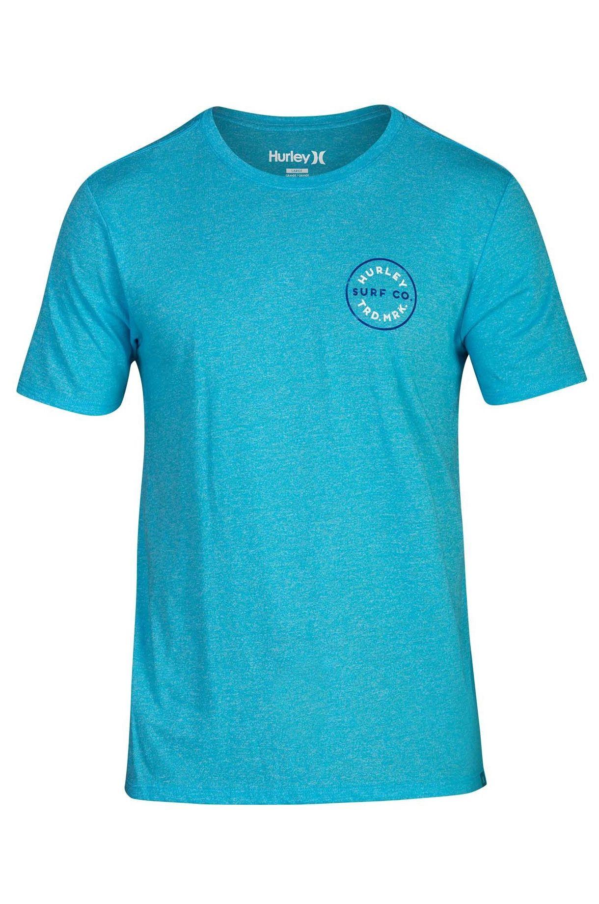 Hurley T-Shirt M HAYDEN TEE Blue Fury Htr