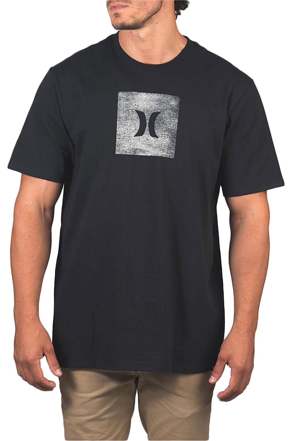 T-Shirt Hurley M CORE ICON BOX TEXTURE S/S Black