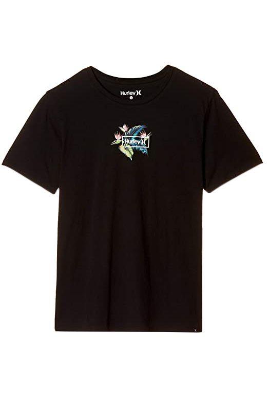Hurley T-Shirt M BIRDS NEST S/S Black