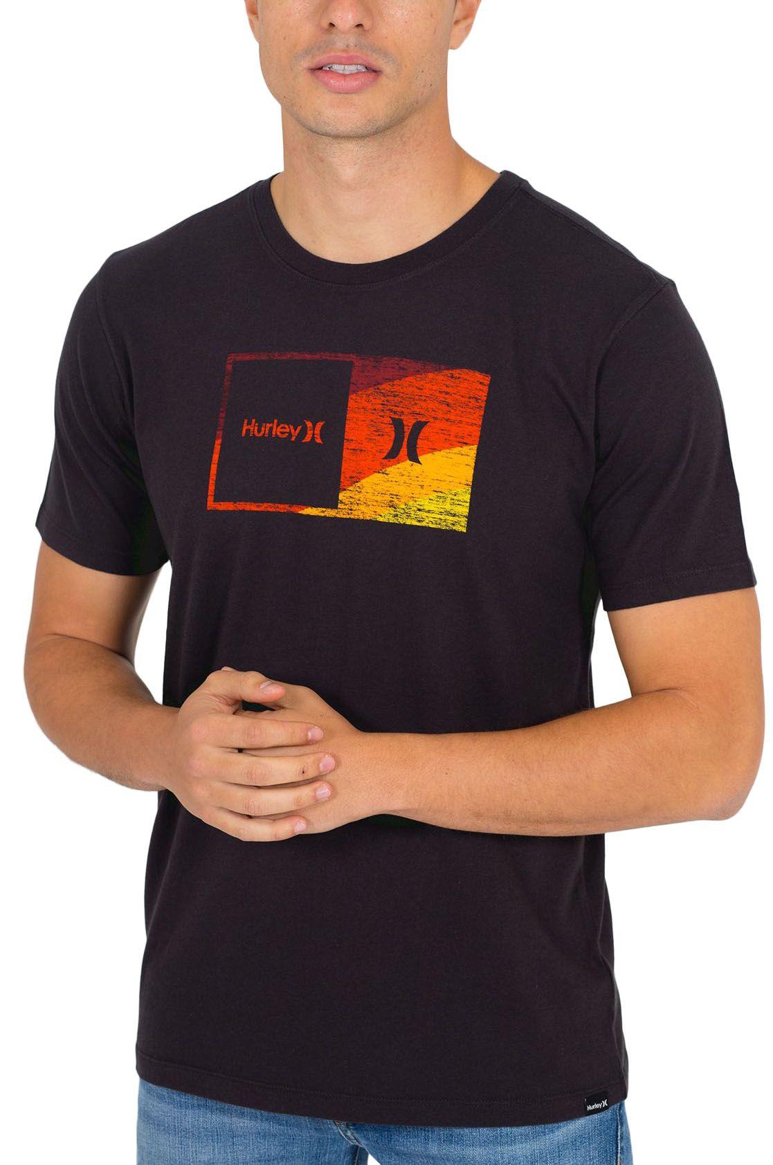 T-Shirt Hurley M EVD WSH HALFER SWAMIS SS Black