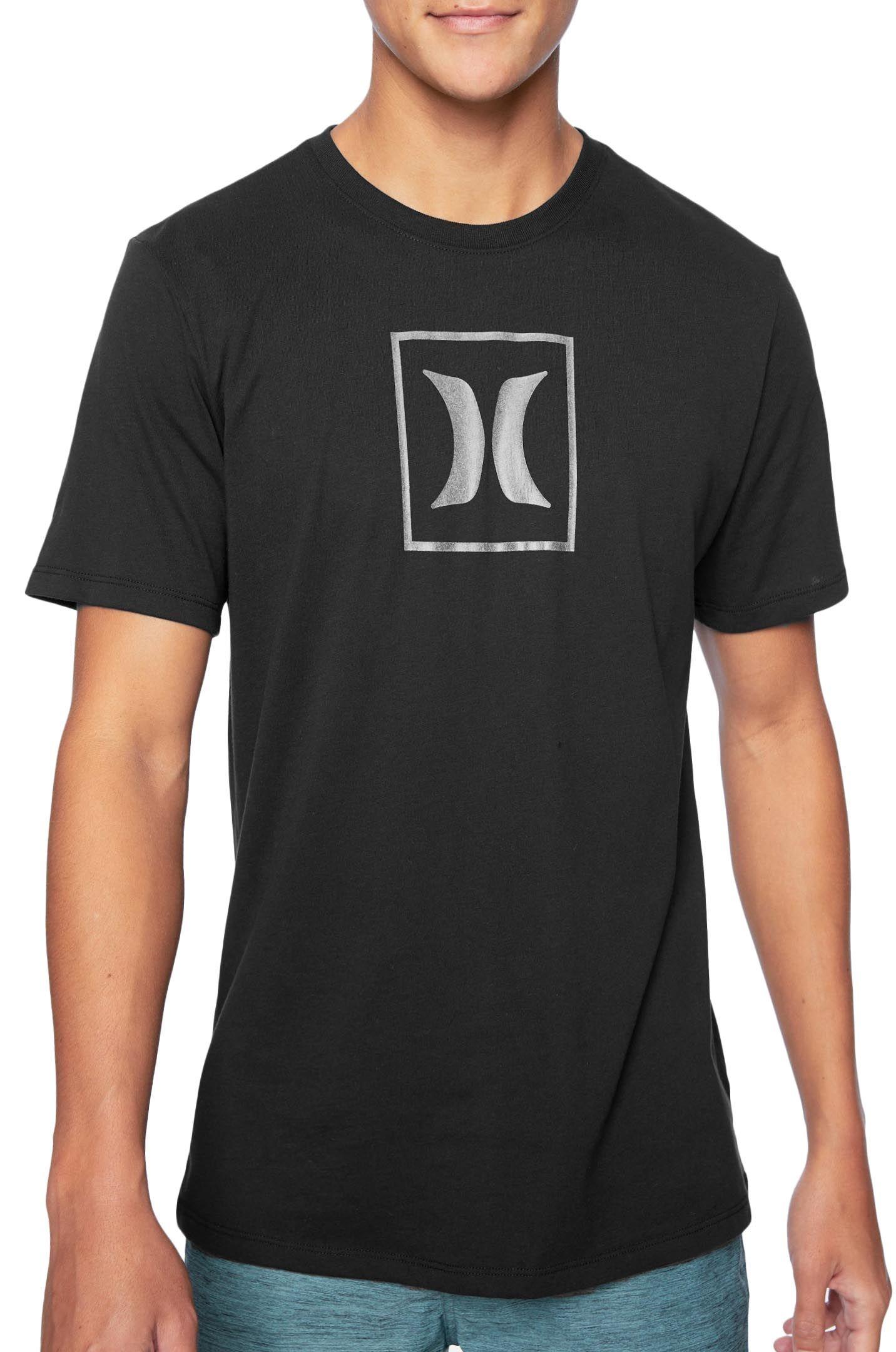 T-Shirt Hurley M DRI-FIT ICON BOX RELFECTIVE S/S Black