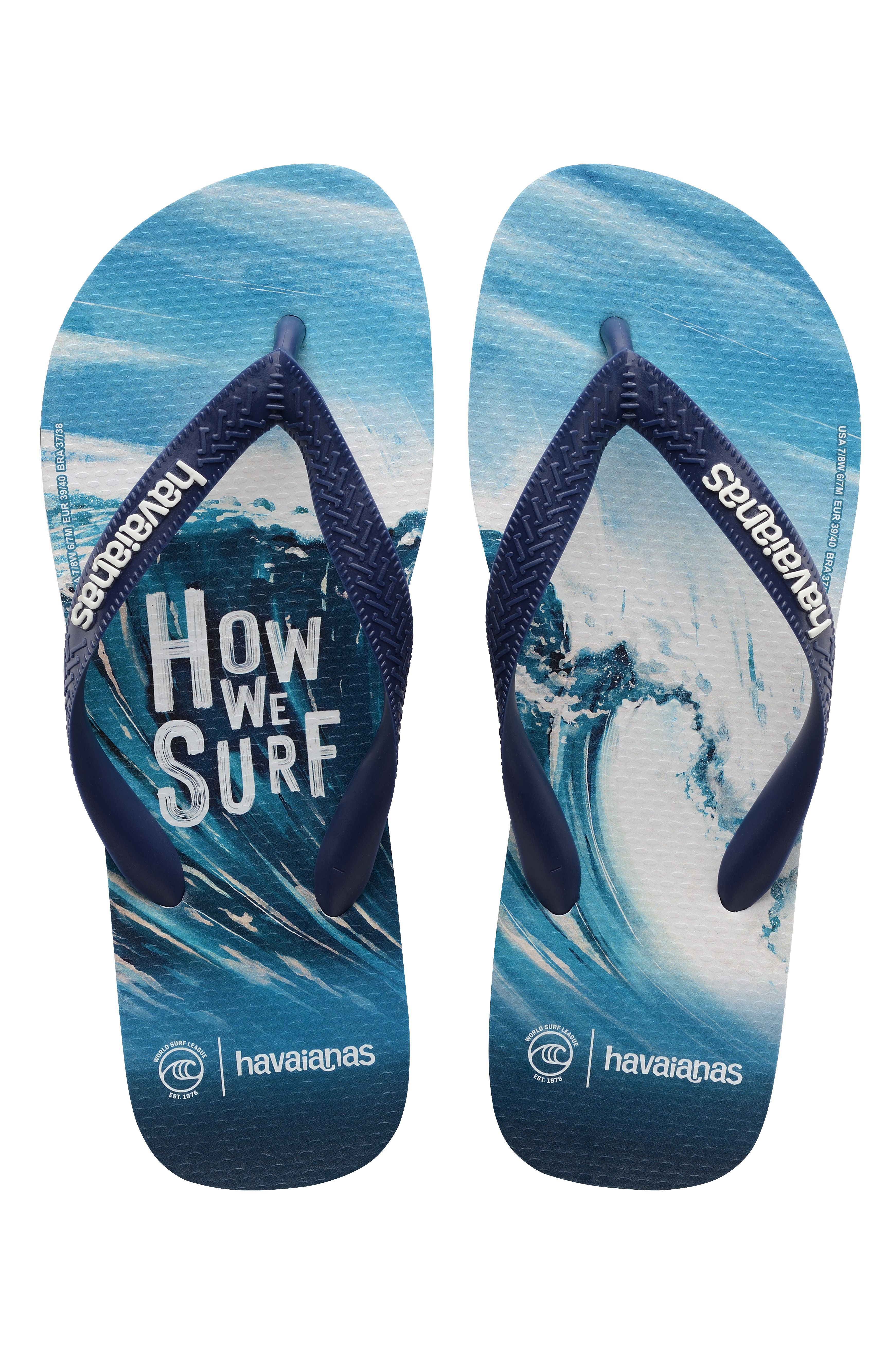 Chinelos Havaianas TOP WSL HOW WE SURF Navy Blue