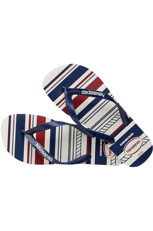 Havaianas Sandals TOP NAUTICAL White/Navy/White