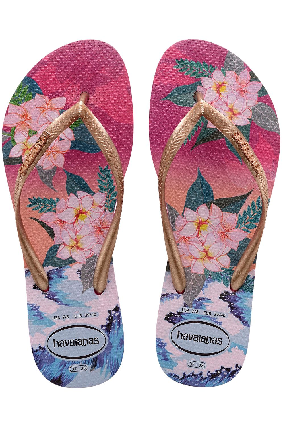 Havaianas Sandals SLIM TROPICAL SUNSET Hollywood Rose