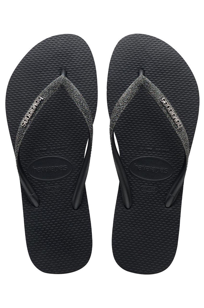 Chinelos Havaianas SLIM GLITTER II Black/Dark Grey Metallic