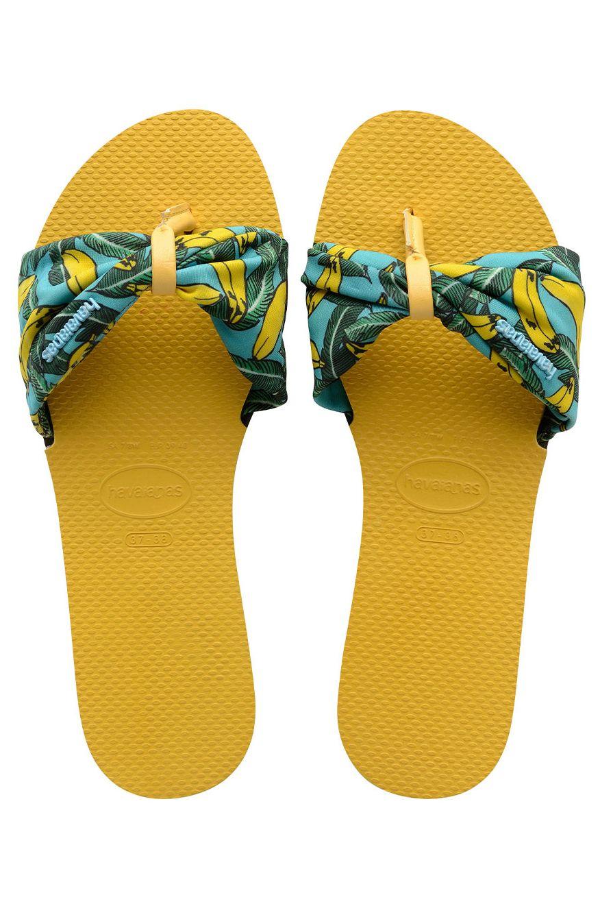 Havaianas Sandals YOU SAINT TROPEZ Gold Yellow