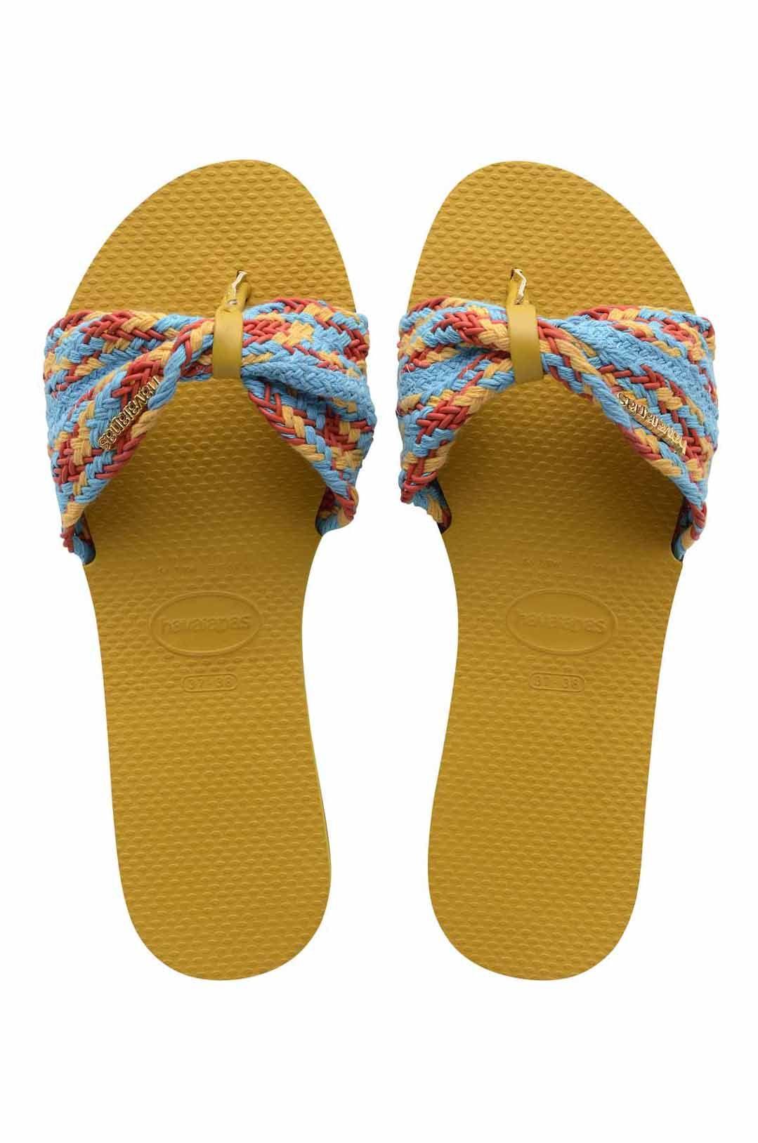 Havaianas Sandals YOU ST TROPEZ MESH Mustard