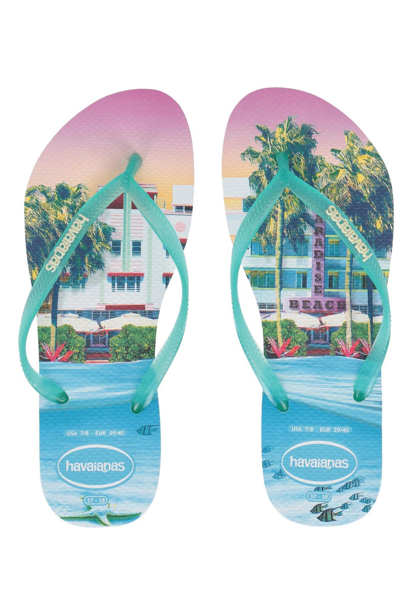 Havaianas Sandals SLIM PAISAGE White/Ligth Green