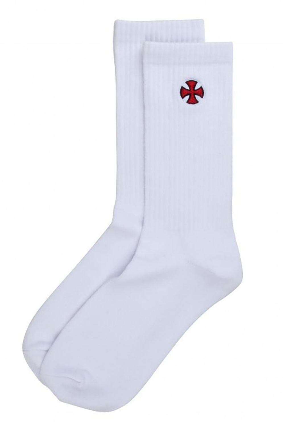 Independent Socks CROSS White
