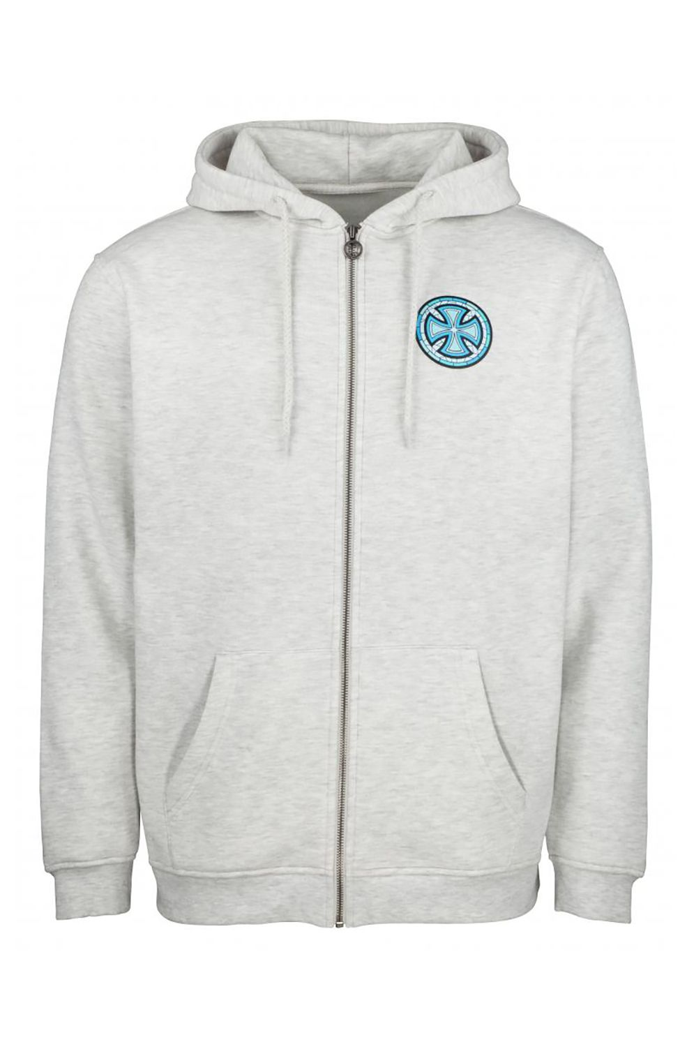 Sweat Fecho Independent STAINED GLASS ZIP HOOD Athletic Heather