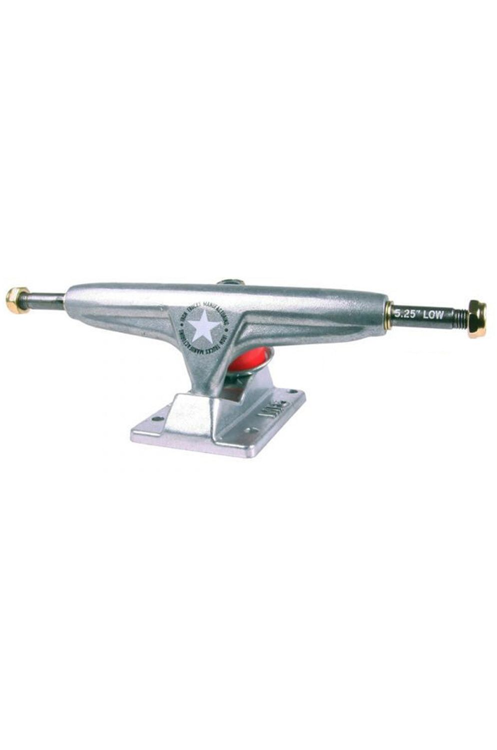 """Iron Skate Trucks 5.25"""" LOW SEMIPOLISHED (PACK 2) Silver"""