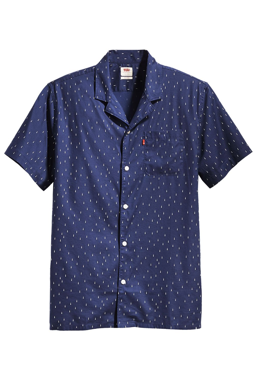 Camisa Levis S/S CLASSIC CAMPER Raindrop Blue Print