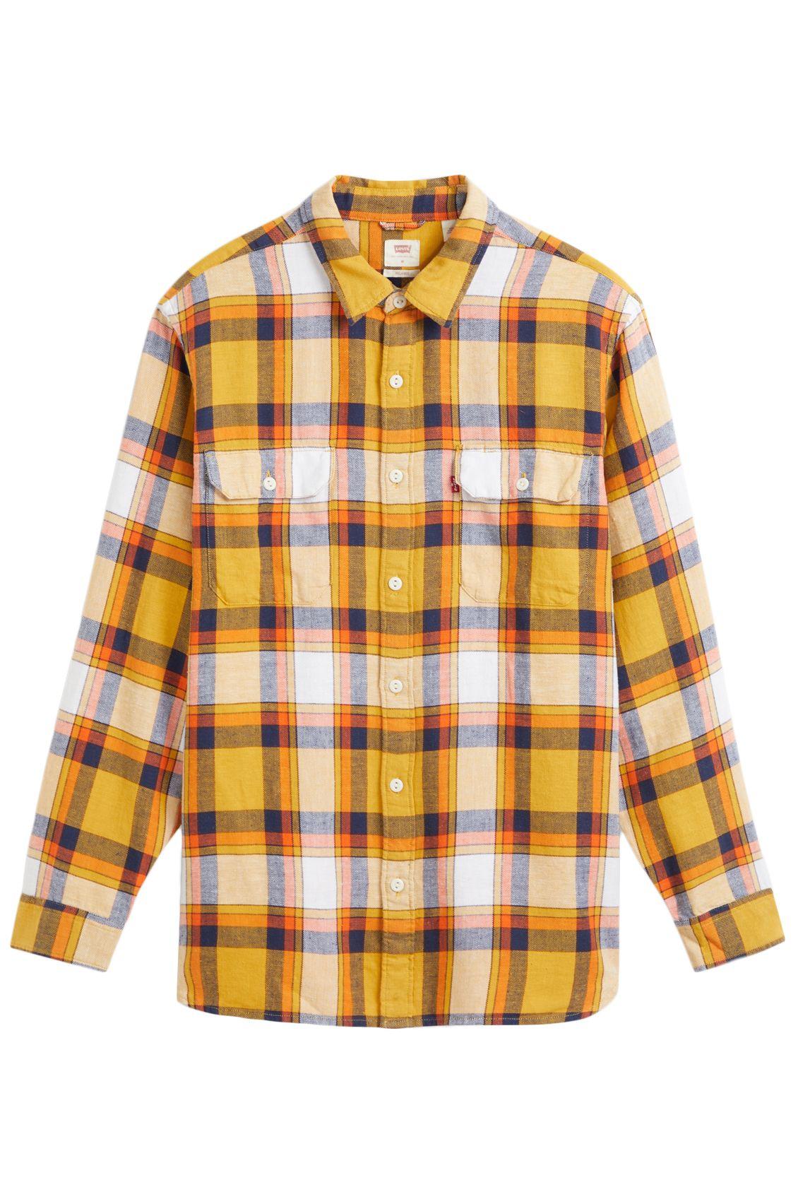Levis Shirt JACKSON WORKER Grassquit Cool Yellow