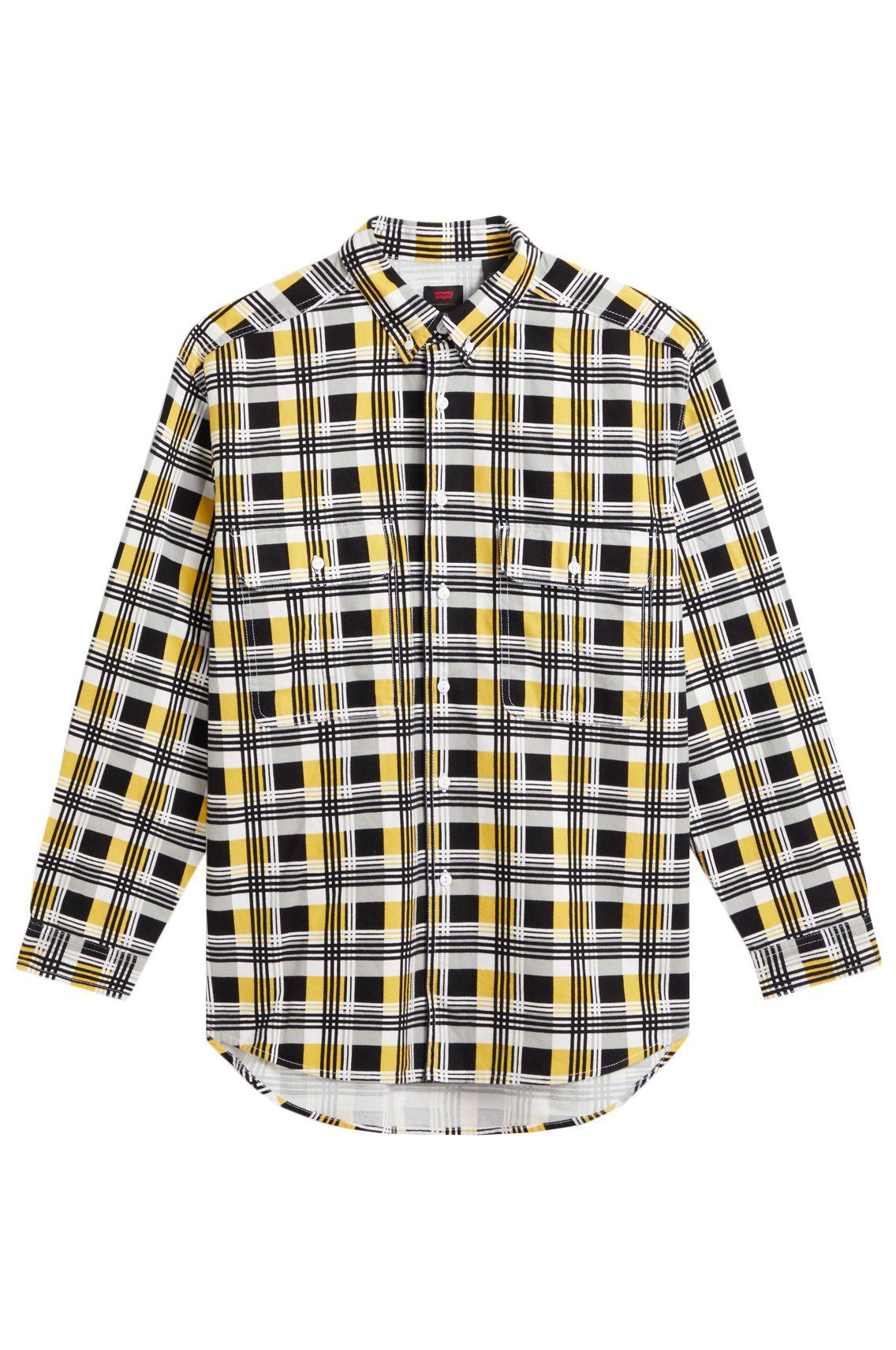 Levis Shirt SKATE L/S WOVEN Printed Black Yellow