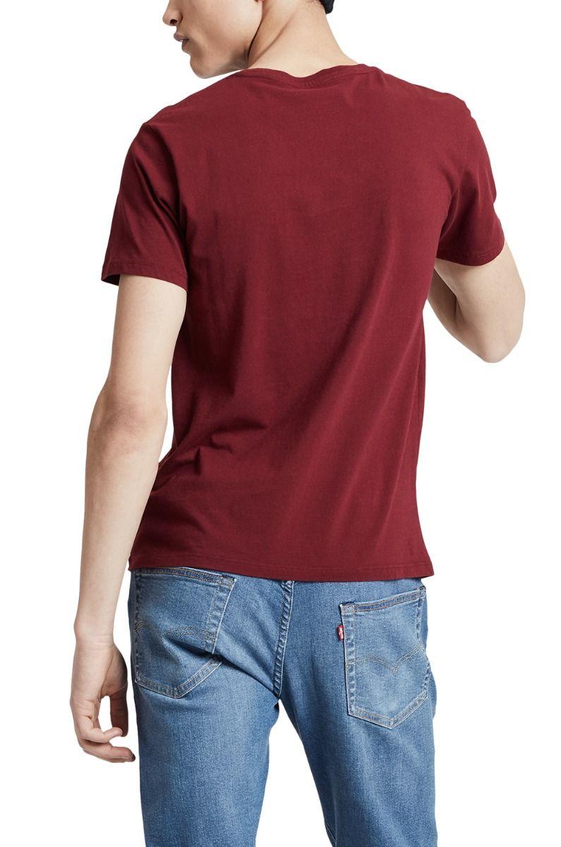 Levis T-Shirt HOUSEMARK GRAPHIC Hm Outline Cabernet