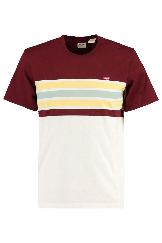 Levis T-Shirt SS ORIGINAL HM TEE Pop Stripe Port