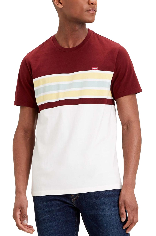T-Shirt Levis SS ORIGINAL HM TEE Pop Stripe Port