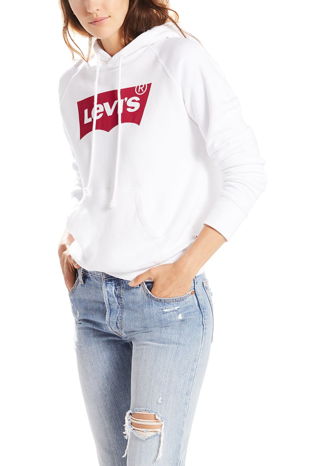 Sweat Capuz Levis GRAPHIC SPORT Housemark Hoodie White