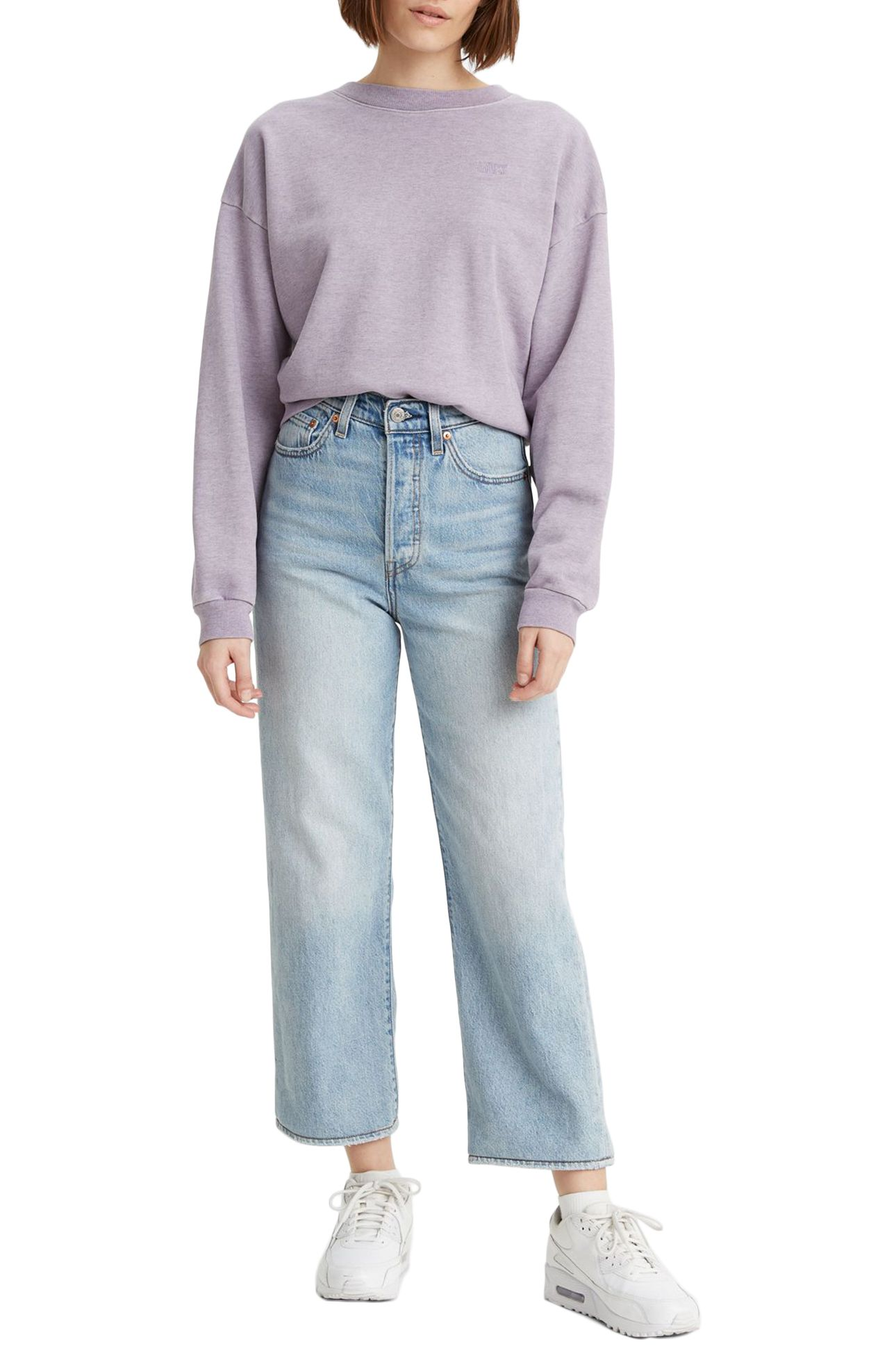 Levis Pant Jeans RIBCAGE STRAIGHT ANKLE Middle Road