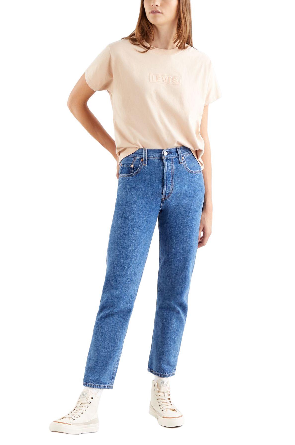 Levis Pant Jeans 501 CROP Sansome Breeze Stone