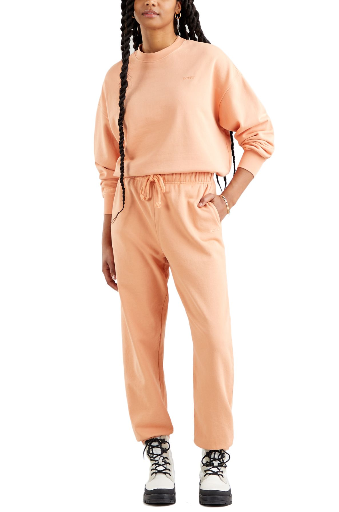 Levis Pants WFH SWEATPANTS Garment Dye Fa166116 Peach Bloom