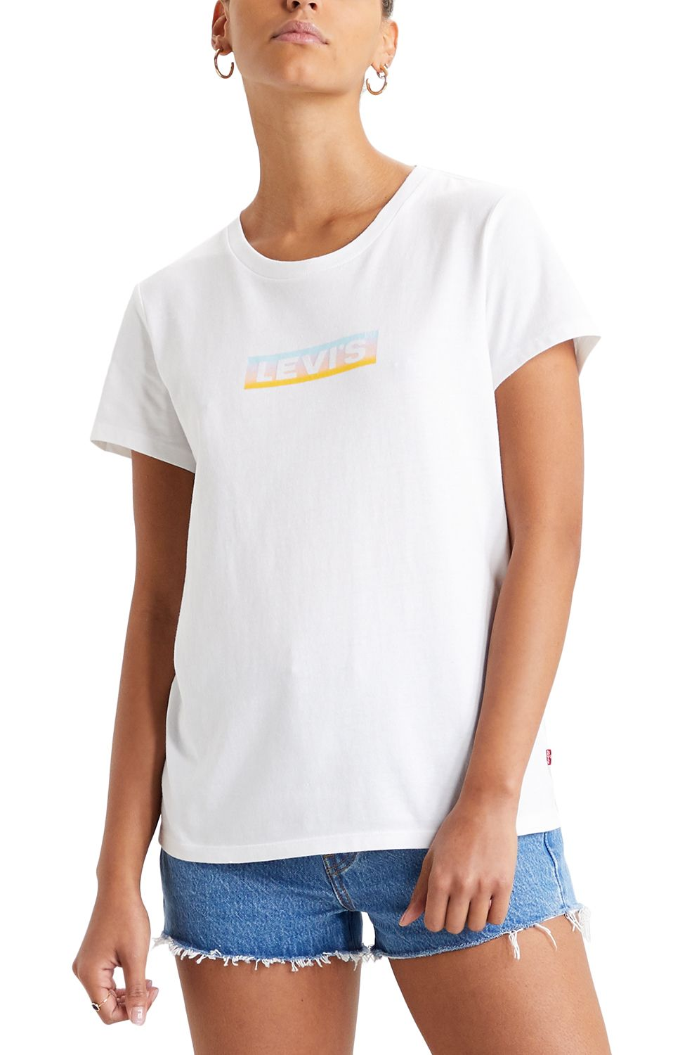 Levis T-Shirt THE PERFECT TEE Box Tab Gradient White+
