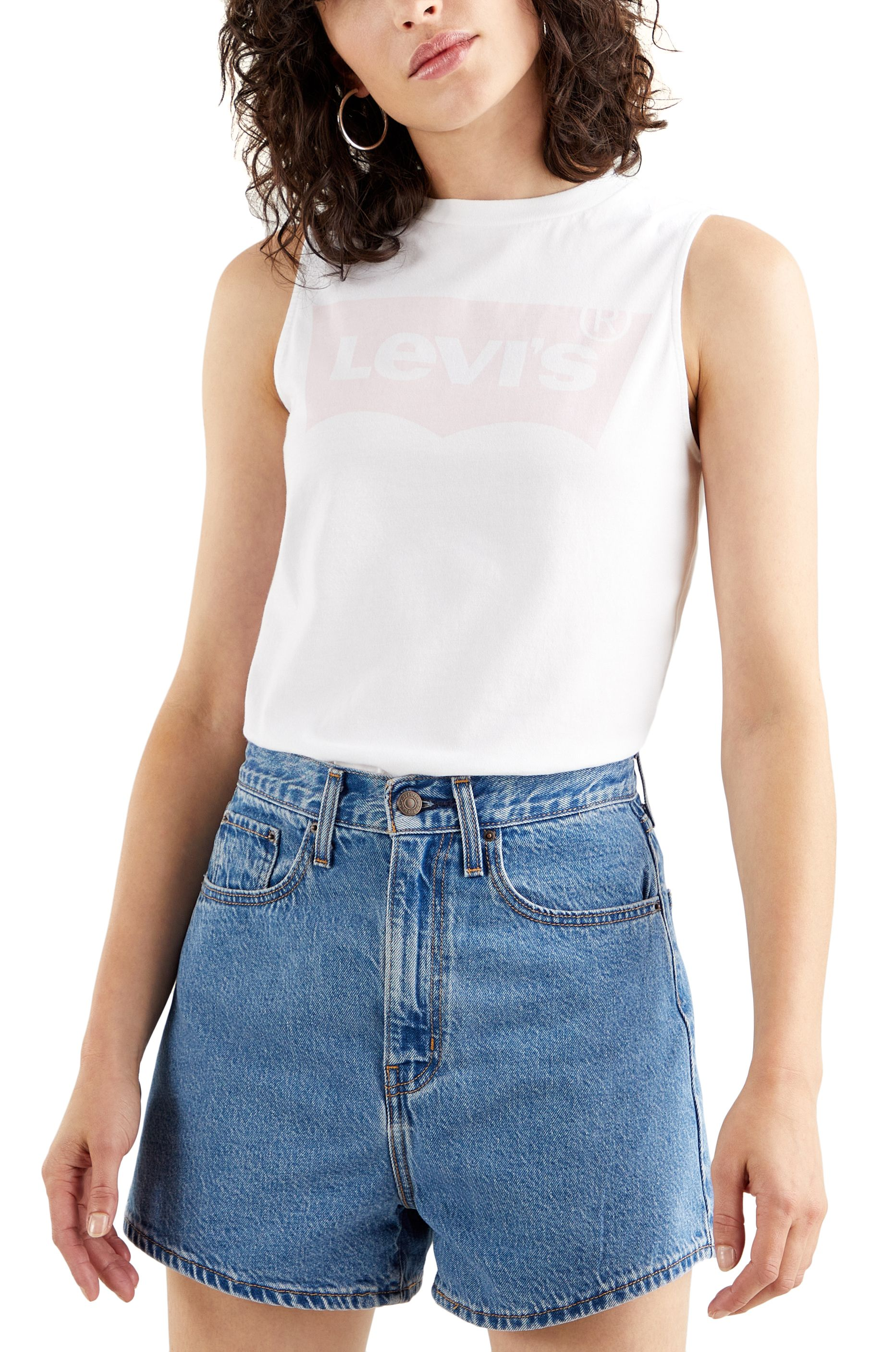 Levis Top GRAPHIC BAND TANK Batwing Band Tank White +