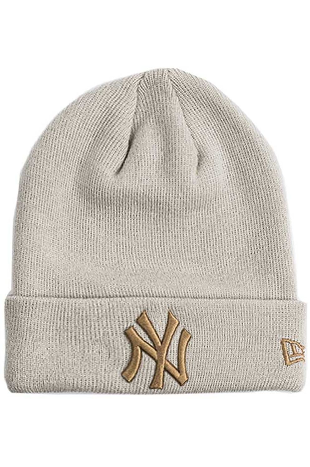New Era Beanie LEAGUE ESSENTIAL CUFF KNIT Stone/Whe