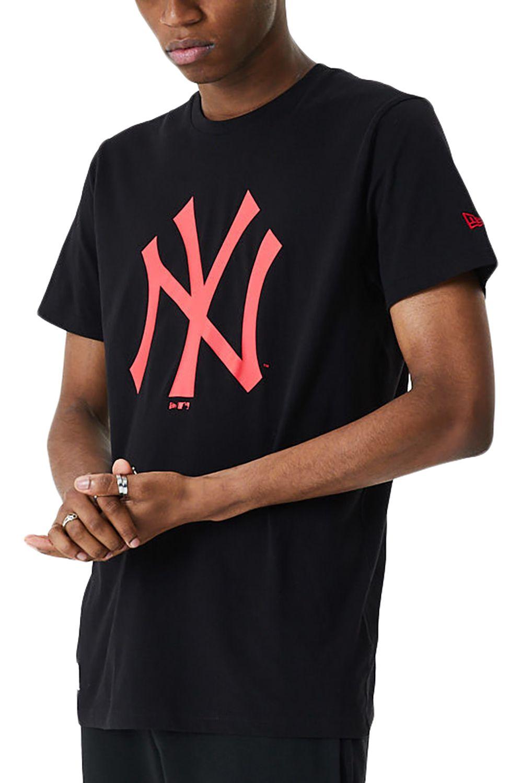 New Era T-Shirt MLB SEASONAL TEAM LOGO TEE NEYYAN Black/Cyr