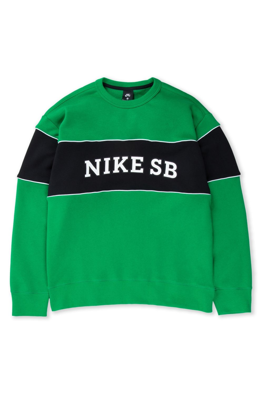 Sweat Basica Nike Sb M NK SB HBR CREW Lucky Green/Black/(White)