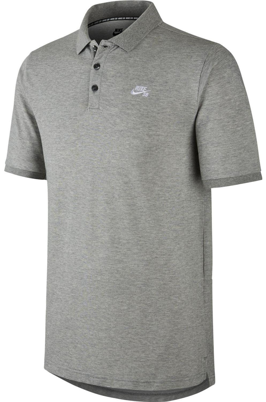 Polo Nike Sb SB DRI-FIT PIQUE Dk Grey Heather/(White)