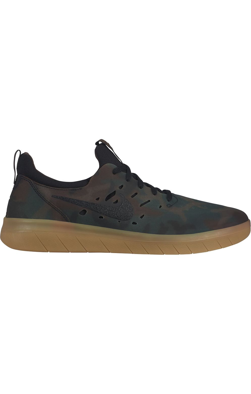 d1f5abd4965c7 Tenis Nike Sb NYJAH FREE PRM Multi-Color Black-Gum Lt Brown