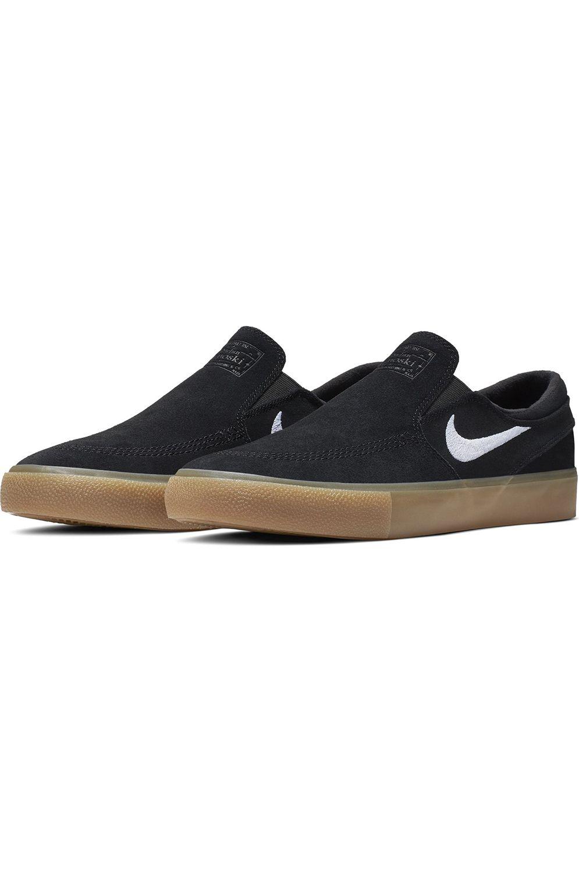Tenis Nike Sb ZOOM JANOSKI SLIP RM Black/White-Black-Gum Lt Brown-Photo Blue-Hyper Pink