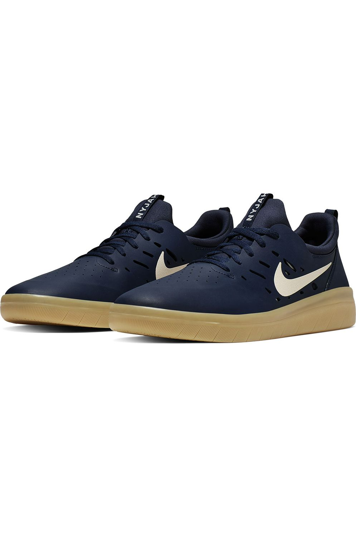 Tenis Nike Sb NYJAH FREE Midnight Navy/Summit White-Midnight Navy-Gum Lt Brown