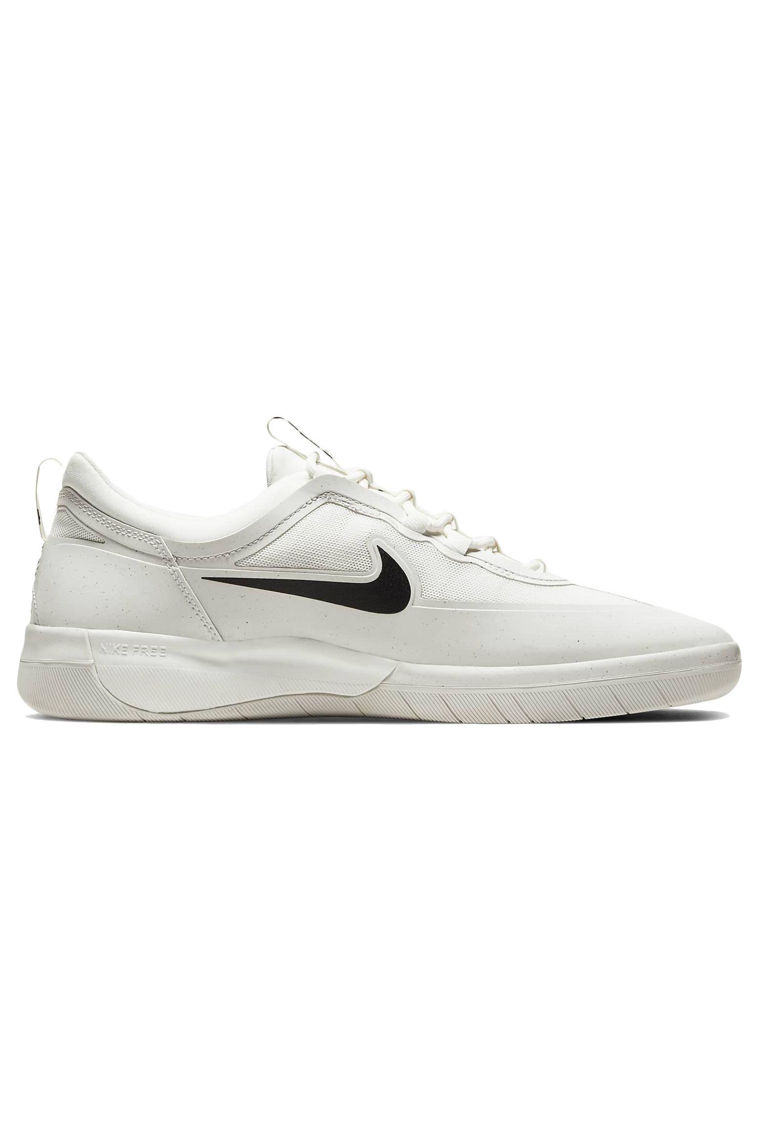 Nike Sb Shoes NIKE SB NYJAH FREE 2.0 Summit White/Black-Summit White-Summit White